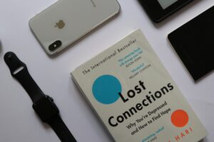 space gray iphone 6 beside black apple watch
